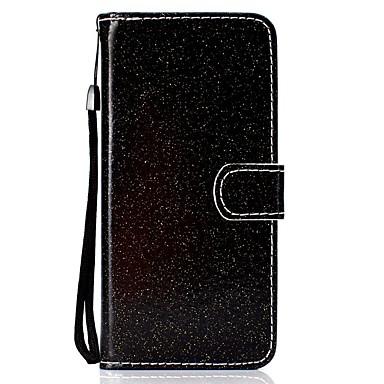 voordelige Galaxy Note-serie hoesjes / covers-hoesje Voor Samsung Galaxy Note 9 / Galaxy Note 10 / Galaxy Note 10 Plus Portemonnee / Kaarthouder / met standaard Volledig hoesje Effen / Glitterglans PU-nahka / TPU