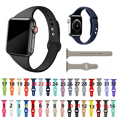 voordelige Smartwatch-accessoires-horlogeband voor Apple Watch-serie 5/4/3/2/1 Apple Sport Band siliconen polsband