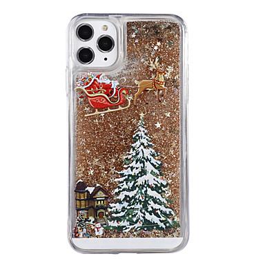 voordelige iPhone 6 Plus hoesjes-hoesje Voor Apple iPhone XS / iPhone X / iPhone 8 Plus Stromende vloeistof / Patroon / Glitterglans Achterkant Boom / Kerstmis PC