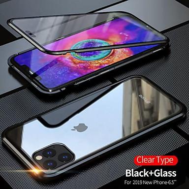 Недорогие Кейсы для iPhone 7 Plus-Кейс для Назначение Apple iPhone 11 / iPhone 11 Pro / iPhone 11 Pro Max Защита от пыли / Зеркальная поверхность / Ультратонкий Чехол Прозрачный Закаленное стекло / Металл