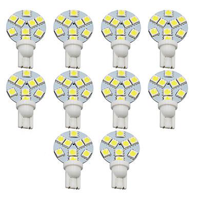 olcso Szerelő világítás-10pcs T10 Autó Izzók 1 W SMD 5050 200 lm 9 LED Rendszámtábla világítás / Munkafény / Hátsó lámpa Kompatibilitás Univerzalno Avenger / Elysee / 9-5