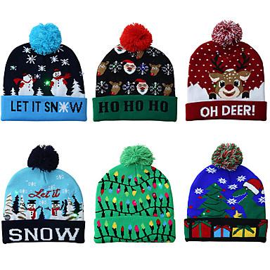 povoljno Dekoracija doma-pleteni božićni šešir vodio toplu zaštitnu kapu prelijepu hladnu klasičnu romantičnu božićnu atmosferu
