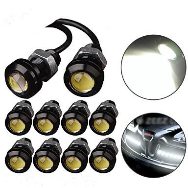 voordelige Autokoplampen-10 stks led eagle eye light drl dagrijverlichting stroboscoop mistlichten 9 w 12 v 18mm achteruitrijden parkeersignaal lamp waterdicht