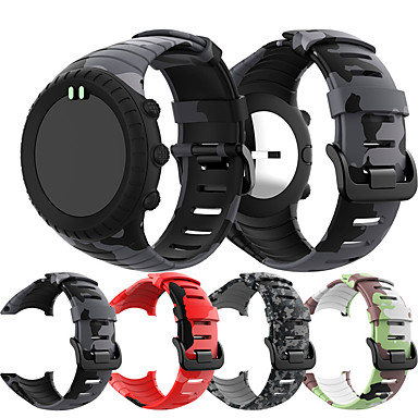 voordelige Smartwatch-accessoires-siliconenprint sport horlogeband polsband voor suunto kern vervangende armband polsband