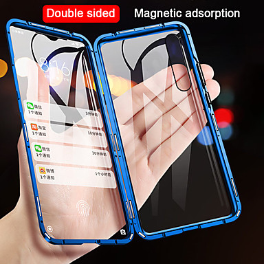 levne Pouzdra telefonu-Carcasă Pro Xiaomi Xiaomi Mi 9 / Xiaomi Mi 9 SE / Xiaomi Mi 9T Flip / Magnetické Celý kryt Jednobarevné Tvrzené sklo / Kov