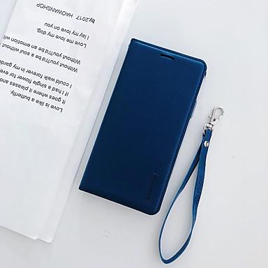 voordelige iPhone-hoesjes-hoesje Voor Apple iPhone XS / iPhone XR / iPhone XS Max Kaarthouder / Magnetisch / Auto Slapen / Ontwaken Volledig hoesje Effen PU-nahka / TPU