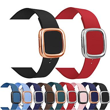 voordelige Smartwatch-accessoires-moderne gesp lederen band voor Apple horlogeband 42 / 44mm 38 / 40mm iwatch 5 4 3 2 1 armband polshorloge band