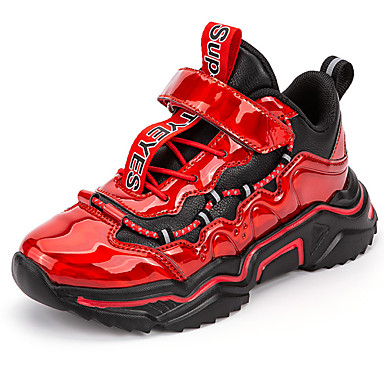 Недорогие Boy's Shoes-Мальчики Удобная обувь Синтетика Спортивная обувь Малыш (9м-4ys) / Маленькие дети (4-7 лет) Для баскетбола Черный / Винный / Синий Осень / Зима