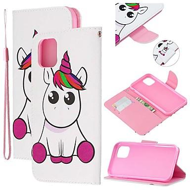 voordelige iPhone-hoesjes-hoesje Voor Apple iPhone 11 / iPhone 11 Pro / iPhone 11 Pro Max Portemonnee / Kaarthouder / met standaard Volledig hoesje dier PU-nahka