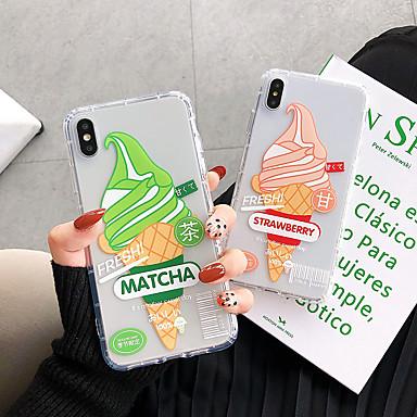 Недорогие Кейсы для iPhone-чехол для яблока iphone xs / iphone xr / iphone xs max противоударный / прозрачный / с рисунком на задней крышке пищевого тпу для iphone x 8 8plus 7 7plus 6 6s 6plus 6splus