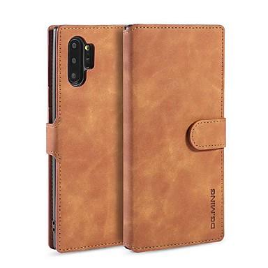 billiga Fodral och skal till Galaxy Note-serien-fodral Till Samsung Galaxy Note 9 / Note 8 / Galaxy Note 10 Plånbok / Korthållare / med stativ Fodral Enfärgad PU läder