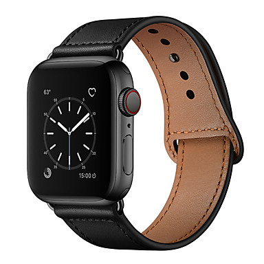 voordelige Apple Watch-bandjes-horlogeband voor Apple Watch-serie 5/4/3/2/1 Apple Sport-band lederen polsband