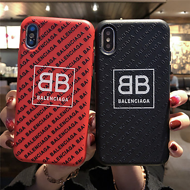 billiga iPhone 6 och Plus-fodral-fodral Till Apple iPhone 11 / iPhone 11 Pro / iPhone 11 Pro Max Frostat / Läderplastik / Mönster Skal Ord / fras TPU