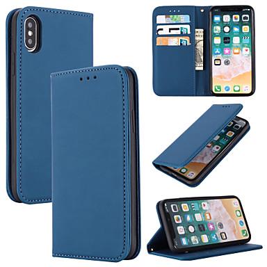 Недорогие Кейсы для iPhone 6 Plus-Кейс для Назначение Apple iPhone 11 / iPhone 11 Pro / iPhone 11 Pro Max Бумажник для карт Чехол Однотонный Настоящая кожа