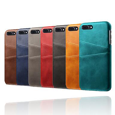 voordelige iPhone 5 hoesjes-hoesje voor Apple iPhone XR / iPhone XS schokbestendige achterkant effen gekleurd zacht TPU / PU-leer voor iPhone 6 / iPhone 6 Plus / 7 / 7pius / 8 / 8pius / X / XS