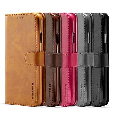 Недорогие Кейсы для iPhone 6-Кейс для Назначение Apple iPhone 11 Pro / iPhone 11 Pro Max / iPhone XS Кошелек / Бумажник для карт / Флип Чехол Однотонный Кожа PU / ТПУ