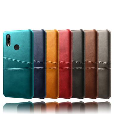 voordelige Huawei Mate hoesjes / covers-hoesje Voor Huawei Huawei P20 Pro / Huawei P8 Lite / Mate 10 pro Kaarthouder / Schokbestendig Achterkant Effen PU-nahka / PC