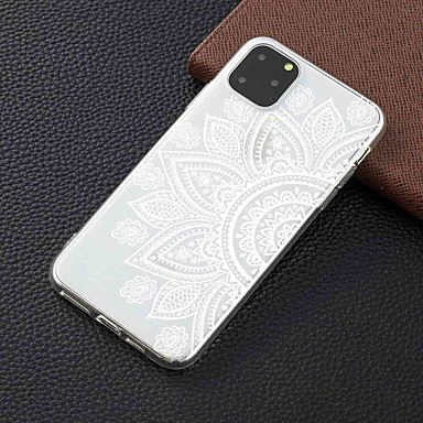 رخيصةأون أغطية أيفون-غطاء من أجل Apple اي فون 11 / iPhone 11 Pro / iPhone 11 Pro Max شفاف / نموذج غطاء خلفي زهور TPU