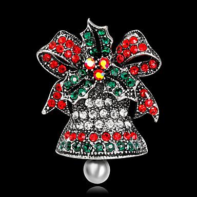 رخيصةأون بروشات-نسائي دبابيس 3D عقدة Bell موضة مطلية بالذهب بروش مجوهرات ذهبي فضي من أجل عيد الميلاد مناسب للحفلات مهرجان