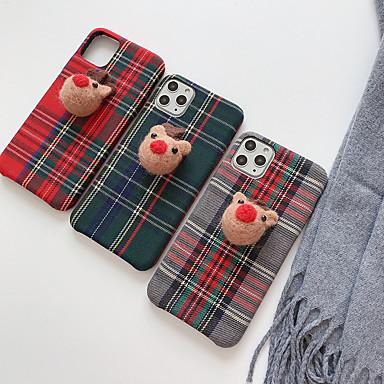 お買い得  iPhone 7 用ケース-ケース 用途 Apple iPhone 11 / iPhone 11 Pro / iPhone 11 Pro Max パターン バックカバー 動物 繊維 / 綿織物