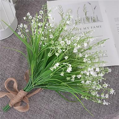 زهور اصطناعية 1 فرع كلاسيكي الزفاف النباتات ريفي زهرة الطاولة