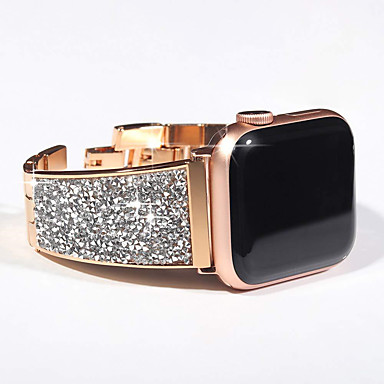 billige Tilbehør til smartklokke-luksuriøs diamant stropp for epleklokke serie 5/4/3/2/1 armbånd stropp bling tsjekkisk stein dame armbåndsur for iwatch band 44mm / 40mm / 42mm / 38mm