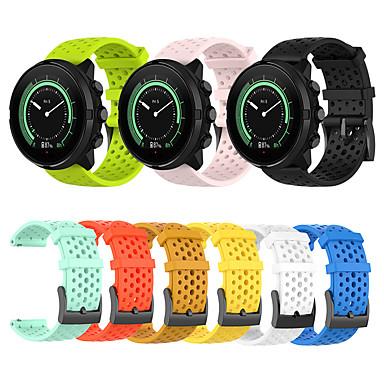 Недорогие Аксессуары для смарт-часов-24мм силиконовый ремешок для часов ремешок для запястья для suunto spartan sport hr / baro / suunto 9 / suunto d5 сменный браслет браслет