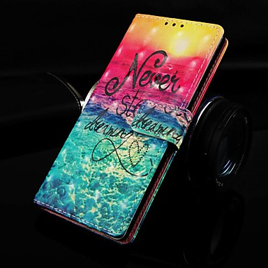 voordelige Galaxy A-serie hoesjes / covers-hoesje Voor Samsung Galaxy Galaxy A7(2018) / Galaxy A10 (2019) / Galaxy A30 (2019) Portemonnee / Kaarthouder / met standaard Volledig hoesje Landschap PU-nahka