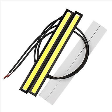 Недорогие Дневные фары-2 шт. / Лот 17 см универсальный дневной ходовой свет удара drl светодиодный автомобильный светильник наружное освещение авто водонепроницаемый стайлинга автомобилей светодиодный светильник drl 12 В