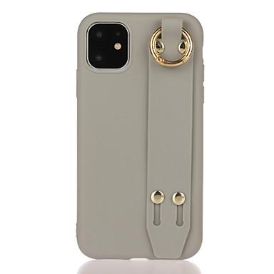 Недорогие Кейсы для iPhone 6-Кейс для Назначение Apple iPhone 11 / iPhone 11 Pro / iPhone 11 Pro Max со стендом / Матовое / Своими руками Кейс на заднюю панель Однотонный ТПУ