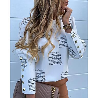 cheap New Arrival-Women's Daily Street chic Shirt - Geometric Print White