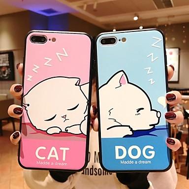 voordelige iPhone 6 Plus hoesjes-hoesje Voor Apple iPhone 11 / iPhone 11 Pro / iPhone 11 Pro Max Patroon Achterkant Kat / Hond / Cartoon PC