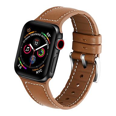 voordelige Smartwatch-accessoires-siliconen lederen band voor Apple horlogeband 44 mm / 40 mm / 42 mm / 38 mm riem voor iwatch-serie 5/4/3/2/1 armband van hoge kwaliteit