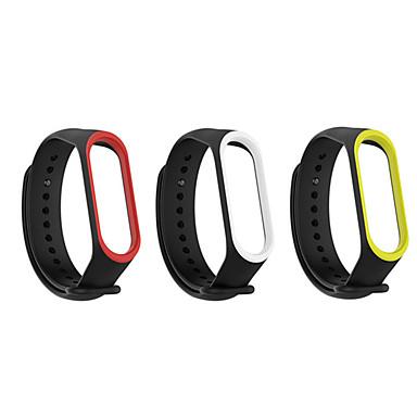 Недорогие Аксессуары для смарт-часов-3pack xiaomi mi band 3 mi 4 браслет силиконовый спортивный сменный ремешок