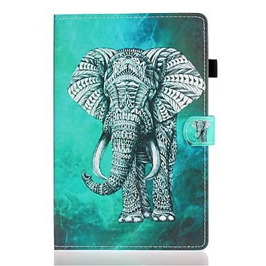 رخيصةأون أغطية أيباد-غطاء من أجل Apple iPad Air / iPad 4/3/2 / iPad (2018) حامل البطاقات / مع حامل / نموذج غطاء كامل للجسم حيوان جلد PU