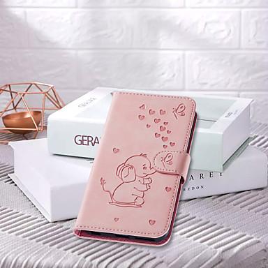 رخيصةأون حافظات / جرابات هواتف جالكسي J-غطاء من أجل Samsung Galaxy J7 (2017) / J6 / J6 (2018) قلب / نموذج / مغناطيس غطاء كامل للجسم حيوان جلد PU