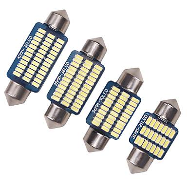 olcso Autó világítás-4 db autó c5w canbus 31/36/39 / 41mm 3014 21/30 / 36led hibamentes belső olvasás fényszóró izzók automatikus lemez lámpa fehér 12v