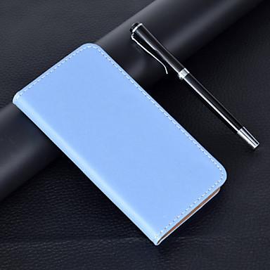 Недорогие Чехлы и кейсы для Xiaomi-Кейс для Назначение Xiaomi Xiaomi Redmi Note 6 / Xiaomi Redmi 7 / Xiaomi Mi 8 Lite Бумажник для карт / со стендом / Флип Чехол Однотонный Кожа PU