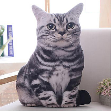 olcso Plüssjátékok-10inch szürke macska kitömött állat plüss játék