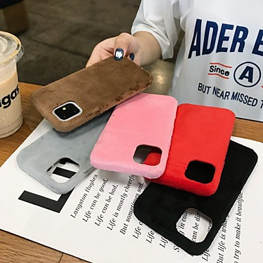 Недорогие Кейсы для iPhone 7 Plus-Кейс для Назначение Apple iPhone 11 / iPhone 11 Pro / iPhone 11 Pro Max Защита от удара / Защита от пыли / Защита от влаги Чехол Плюш ТПУ / Хлопковая ткань