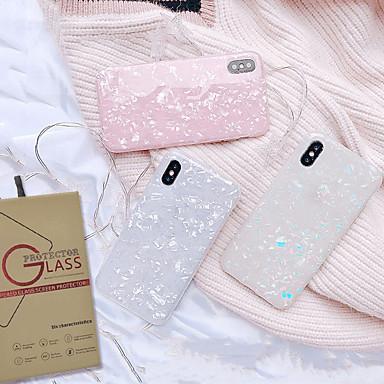 voordelige iPhone-hoesjes-hoesje met schermbeschermer voor apple iphone 11 / iphone 11 pro / iphone 11 pro max stofdicht / imd / ultradunne achterkant effen gekleurde tpu voor iphone 7/7 p / 8/8 p / 6/6 plus / x / xs / xr / xs