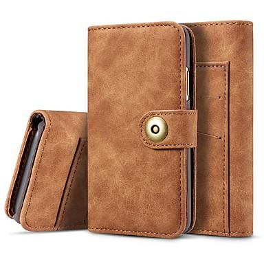 Недорогие Кейсы для iPhone-Кейс для Назначение Apple iPhone 11 / iPhone 11 Pro / iPhone 11 Pro Max Кошелек / Бумажник для карт / Защита от удара Чехол Однотонный Настоящая кожа