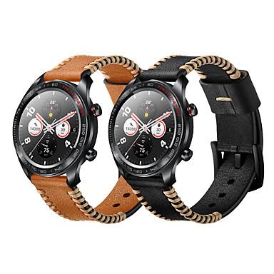 levne Shlédnout pásy pro Huawei-žebra ve stylu pravých kožených hodinek pro huawei čest magický náramek na zápěstí