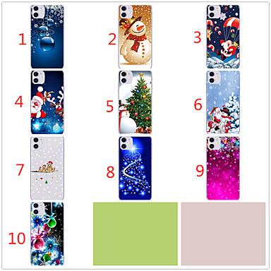 Недорогие Кейсы для iPhone X-Кейс для Назначение Apple iPhone 11 / iPhone 11 Pro / iPhone 11 Pro Max С узором Кейс на заднюю панель Рождество ТПУ