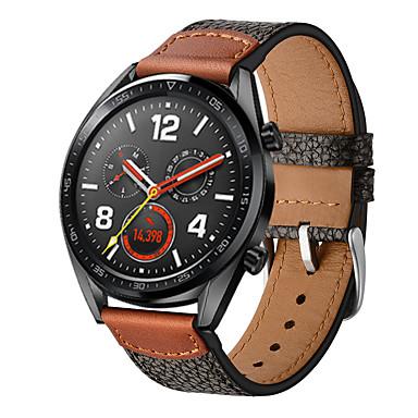 رخيصةأون أساور ساعات Huawei-حزام جلد اصلي لساعة هواوي gt stone نمط رباط المعصم الذكي