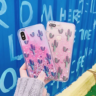 voordelige iPhone-hoesjes-hoesje Voor Apple iPhone XS / iPhone XR / iPhone XS Max Stromende vloeistof / Patroon / Glitterglans Achterkant Tegel PC
