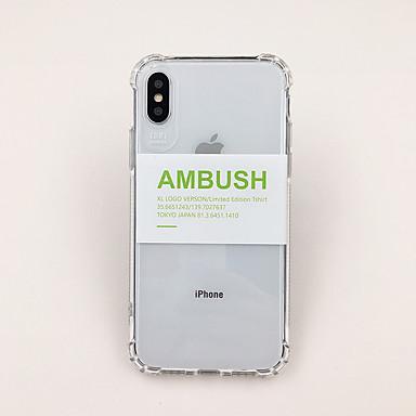 olcso iPhone XS tokok-Case Kompatibilitás Apple iPhone XS / iPhone XR / iPhone XS Max Ultra-vékeny / Átlátszó / Minta Fekete tok Szó / bölcselet / Átlátszó TPU