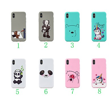 voordelige iPhone X hoesjes-hoesje Voor Apple iPhone XS / iPhone XR / iPhone X Ultradun / Patroon Achterkant dier / Cartoon / Panda TPU
