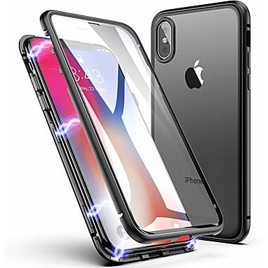Недорогие Кейсы для iPhone 6 Plus-магнитный двухсторонний чехол для яблока iphone 11 / iphone 11 pro / iphone 11 pro max ударопрочный / прозрачный / магнитный чехол для всего тела цельное закаленное стекло / металл
