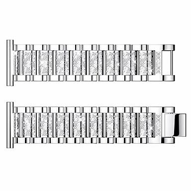 voordelige Smartwatch-accessoires-horlogeband voor huami amazfit 2 22mm roestvrij stalen polsband met sieradenontwerp